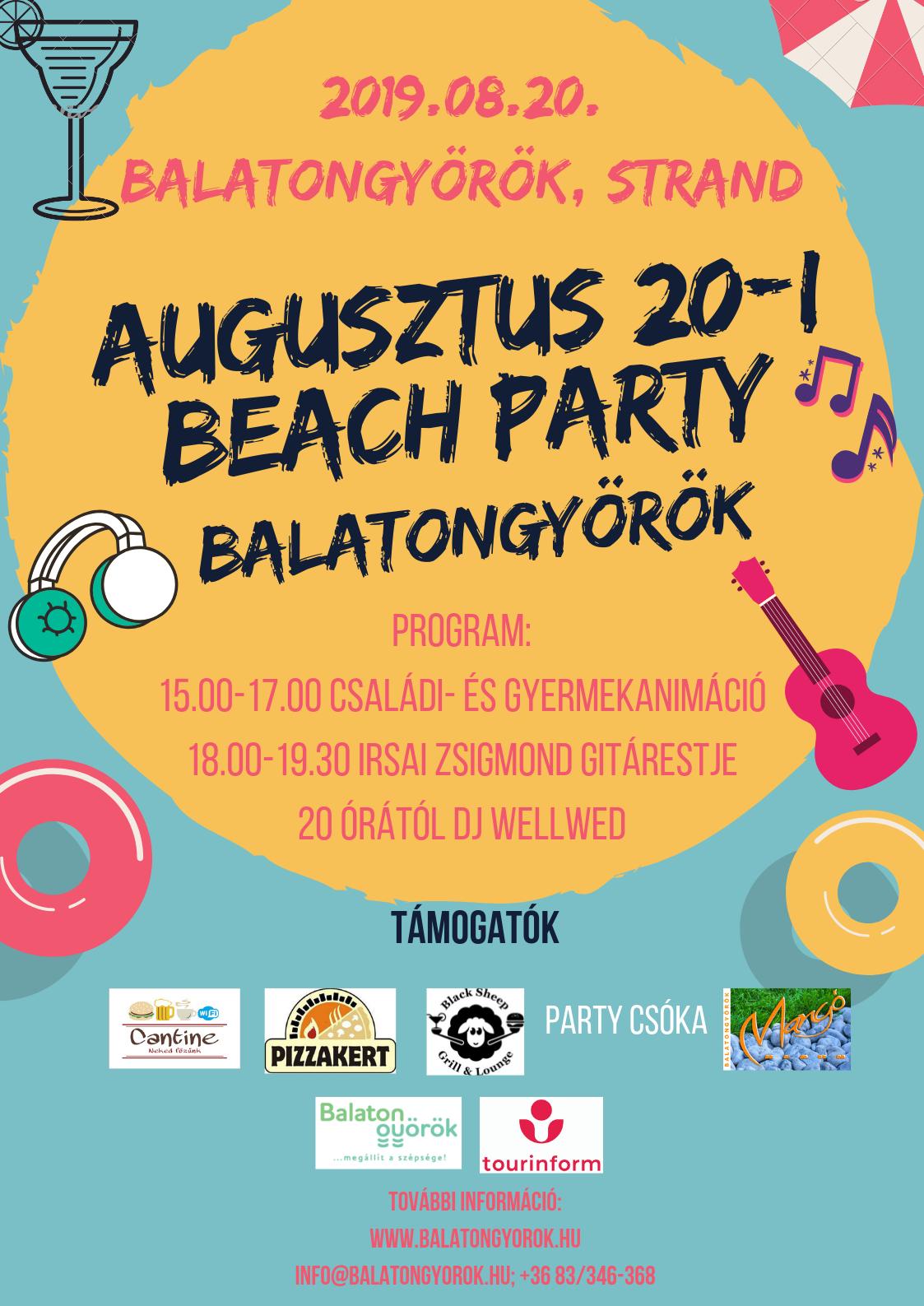 Beach Party Balatongyörökön